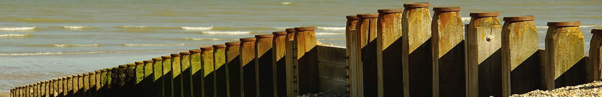 View of sea defences